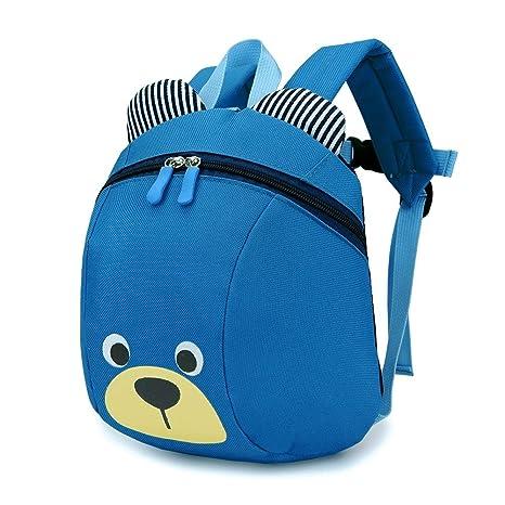 3D niños de dibujos animados mochila infantil preescolar mochila, lindo anti-perdido correa mochila