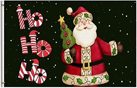 MERRY CHRISTMAS NorthPole 3x5 Holiday Polyester Flag