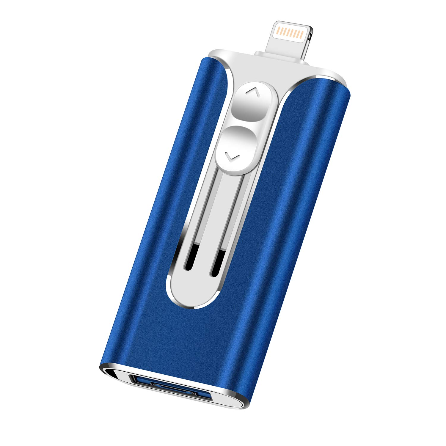 iOS Flash Drive for iPhone Photo Stick 128GB UPSTONE Memory Stick USB 3.0flash Drive Lightning Memory Stick for iPhone iPad Android and Computers (blue-128GB)