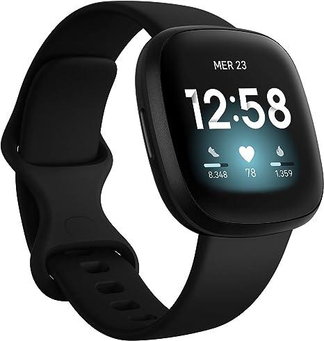 Fitbit Versa 3 Smartwatch Per Benessere E Forma Fisica Con Gps Integrato Rilevazione Continua Del Battito Cardiaco Assistente Vocale E Durata Della Batteria Oltre 6 Giorni Amazon It Sport E Tempo Libero
