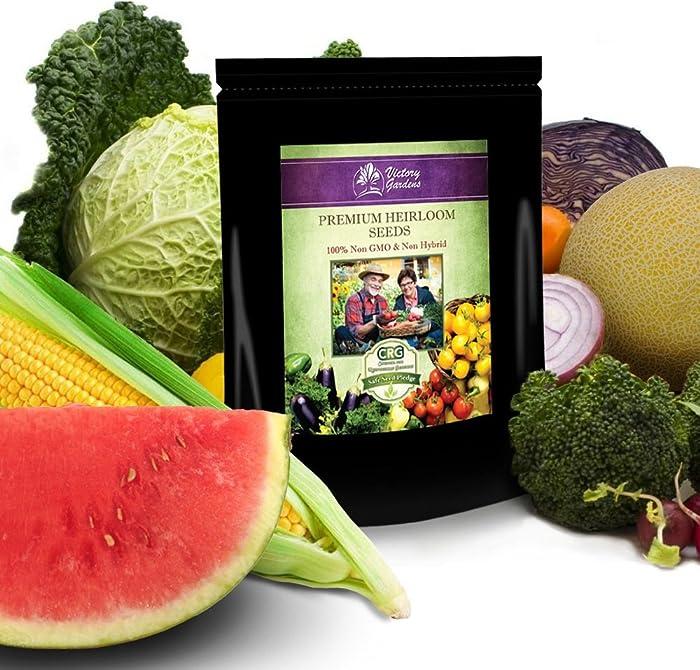 125 Variety Non GMO Non Hybrid Heirloom Seed Bank - Emergency Food Supply - Prepper, Survivalist, Gardener Pack - Vegetables - Fruits - Herbs.!