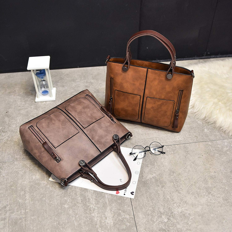 Amazon.com: Winter Vintage Women Handbags Large Capacity casual tote Shoulder Bags Sac A Main Zipper,Black Handbag: Clothing