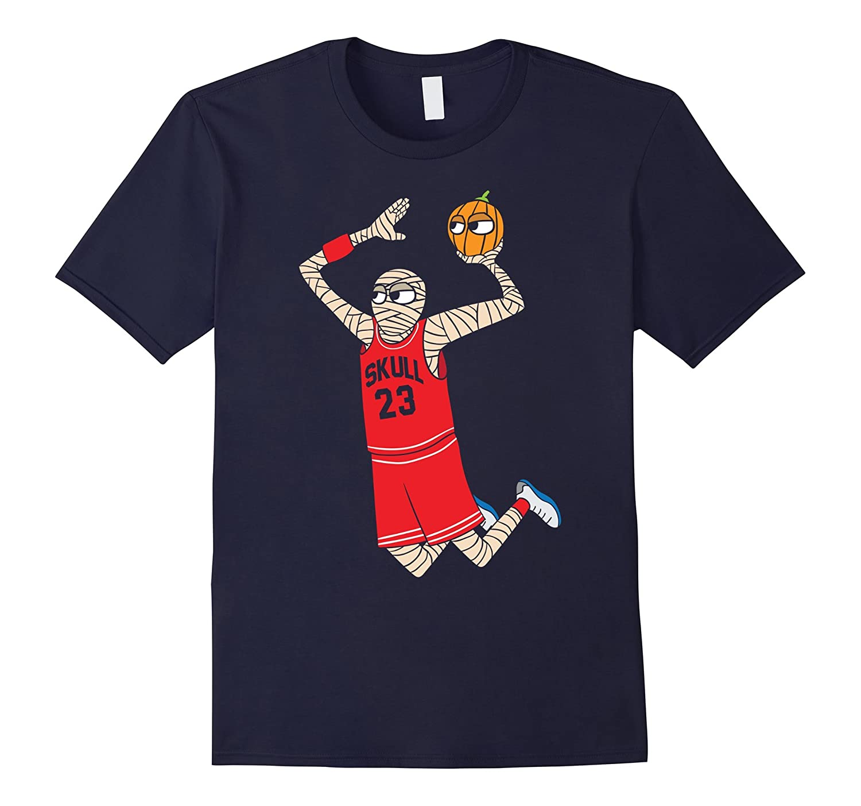 Funny Basketball Zombie Halloween T-Shirt | Halloween Tees-Art