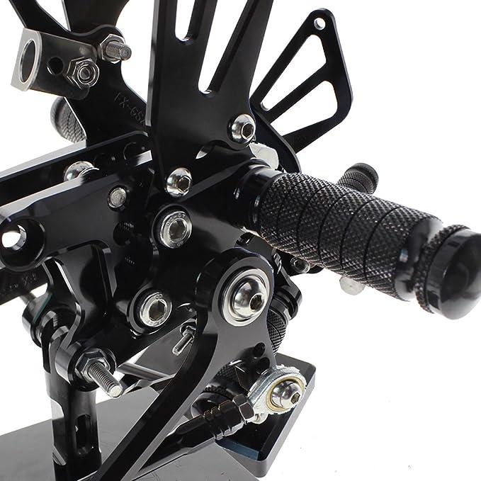 Black Footpegs Rearset Rear Set Pegs For CBR500R//400R//CB500F//400F 2013 2014-2017