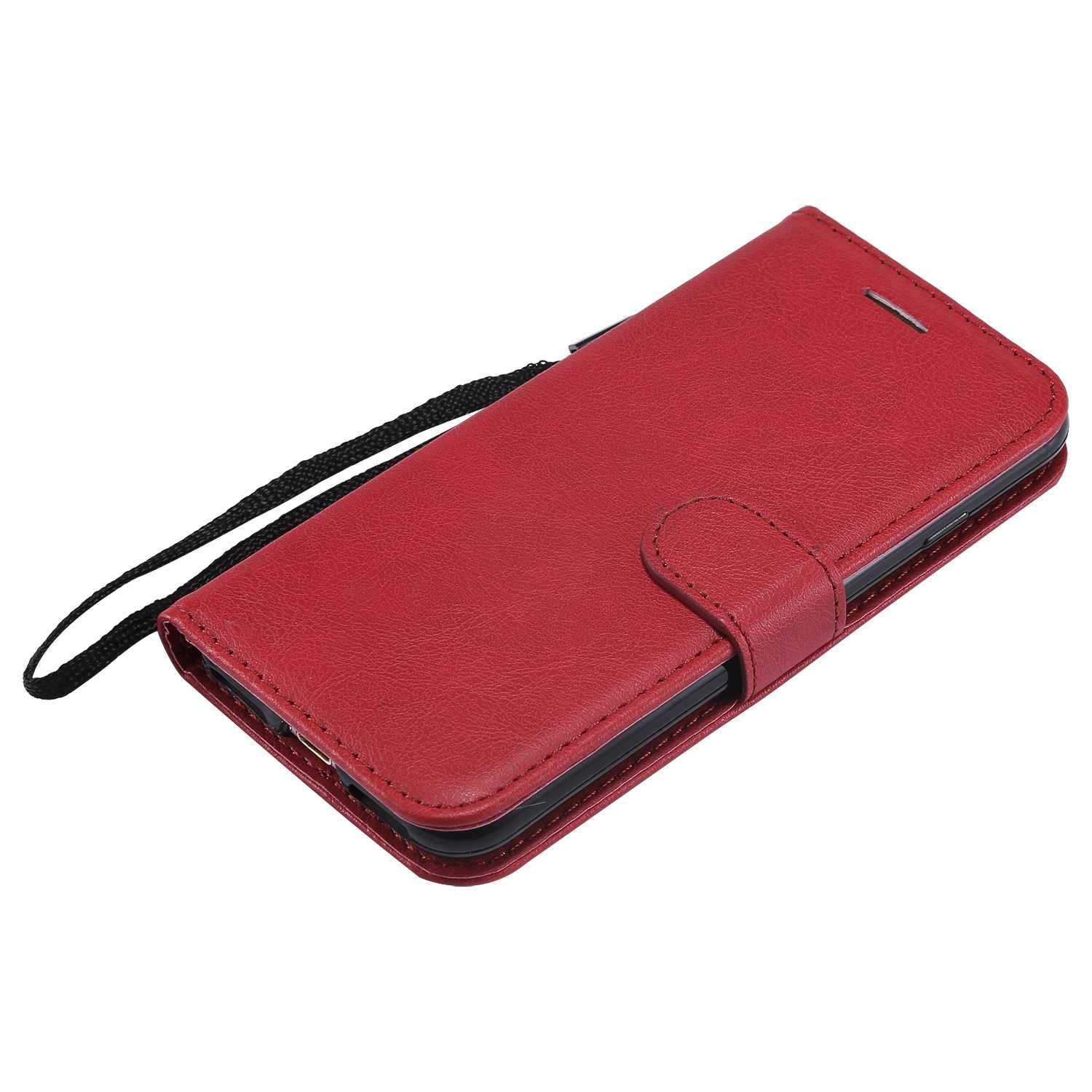 iPhone 7/8 Case, The Grafu Shockproof Leather Wallet Flip Case with [Card Slots] [Wrist Strap] Stand Function Cover for Apple iPhone 7 / iPhone 8, Red by The Grafu (Image #3)
