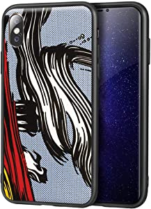 Roy Lichtenstein for iPhone X/iPhone Xs FineArtCellphone Case/Art Cellphone Case/Giclee UV Reproduction Print on Mobile Phone Cover(Brushstrokes)