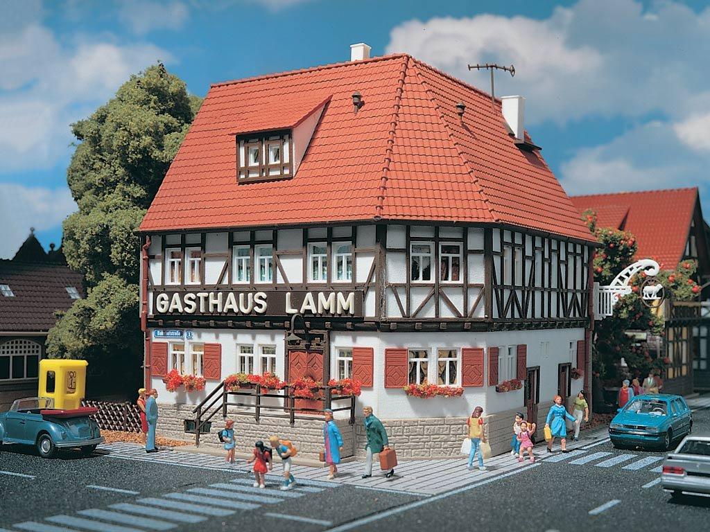 3645 - Vollmer H0 - Gasthaus Lamm Modelleisenbahn / Aufbauten Modelleisenbahn / Bauernhof Mühlen und Landhäuser Modelleisenbahn / Gewerbe und Industriegebäude Modelleisenbahn / Sonstige Gebäude
