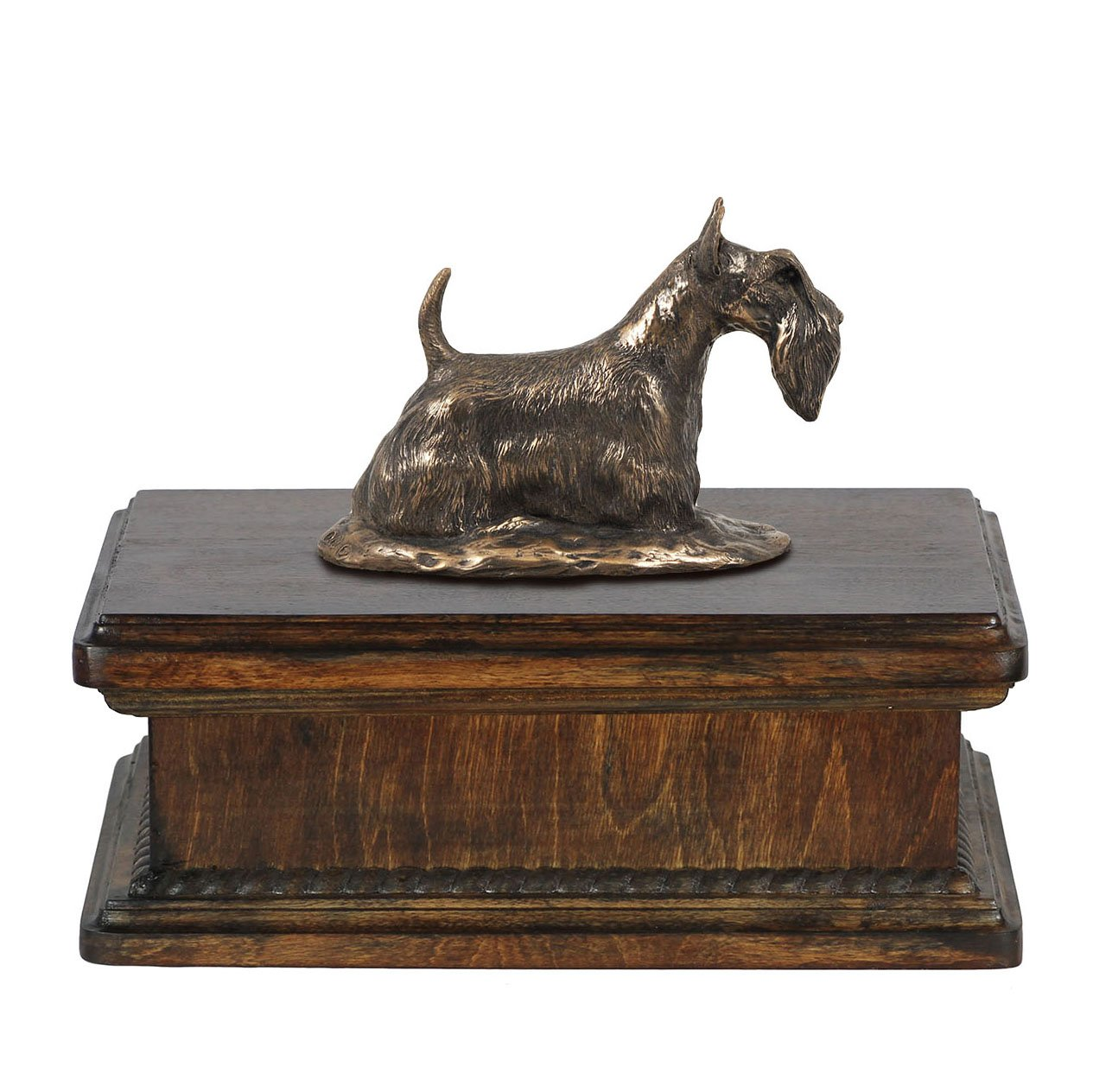 Scottish Terrier, memorial, urn for dog's ashes, with dog statue, exclusive, ArtDog