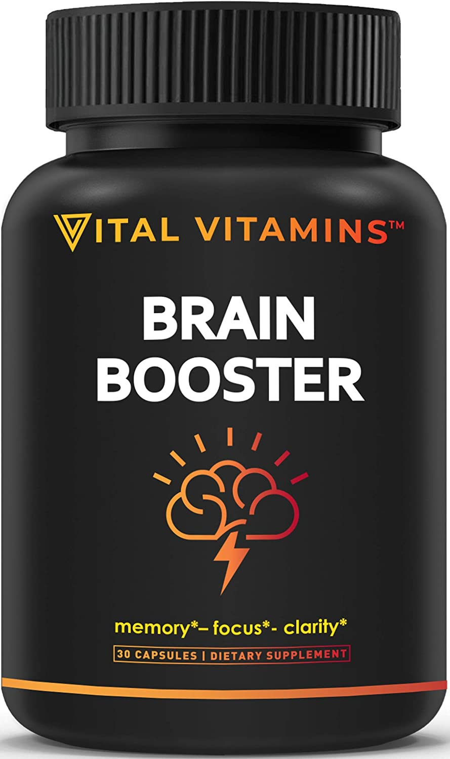 Brain Supplement Nootropics Booster - Enhance Focus, Boost Concentration, Improve Memory & Clarity For Men & Women, Ginkgo Biloba, DMAE, Mind Enhancement, IQ Neuro Energy, Vitamin B12, Bacopa Monnieri: Health & Personal Care