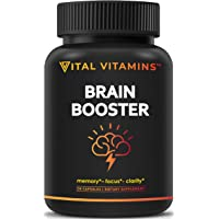 Brain Supplement Nootropics Booster - Enhance Focus, Boost Concentration, Improve Memory & Clarity For Men & Women…