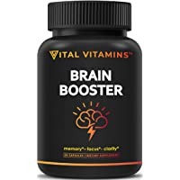 Brain Supplement Nootropics Booster - Enhance Focus, Boost Concentration, Improve...