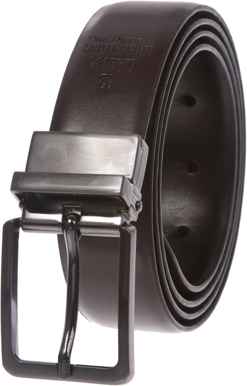 Mens Cut-to-Fit Black or Brown Reversible Dress Belt