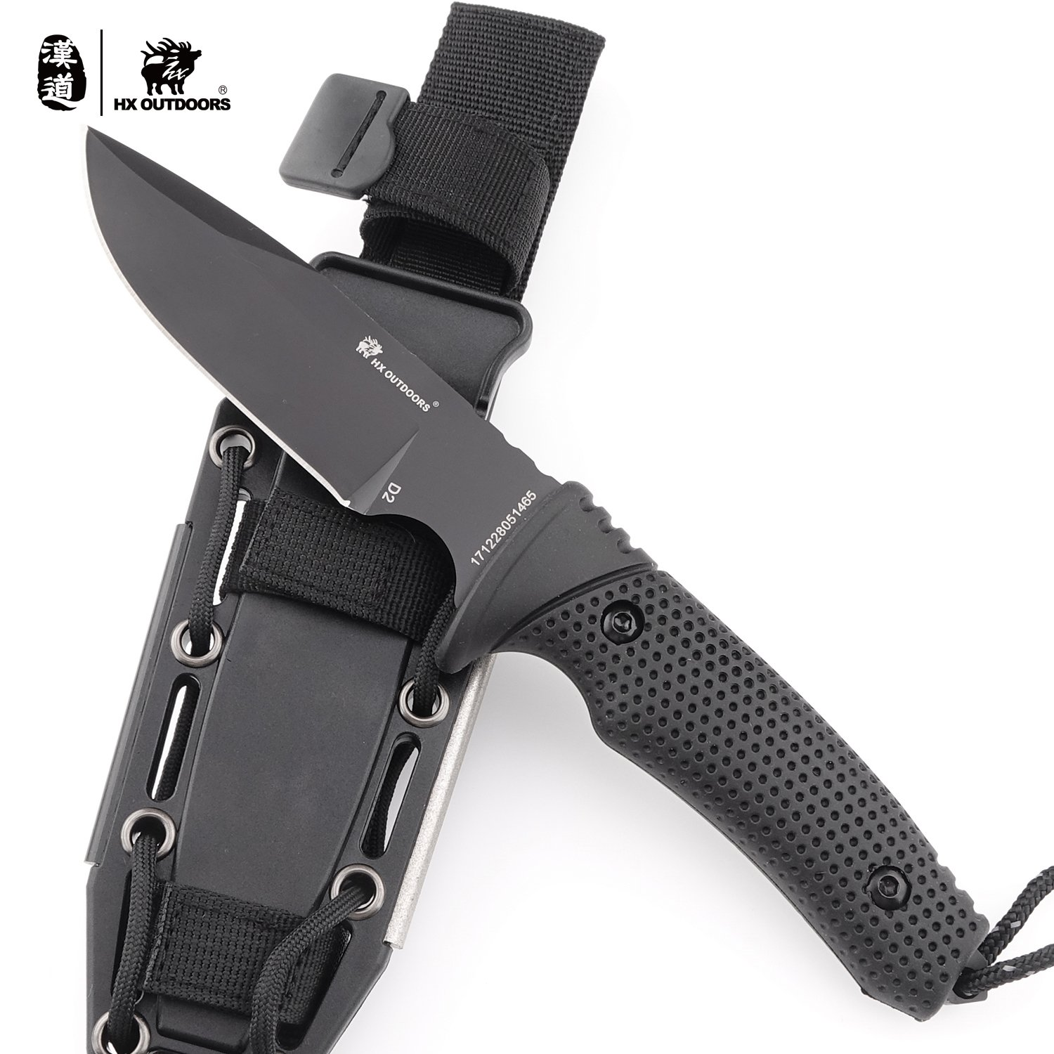 HX OUTDOORS Army Survival Tactical Knife Outdoor Tool Fixed-Blade Knives Camping Hiking Tools (Explorer)