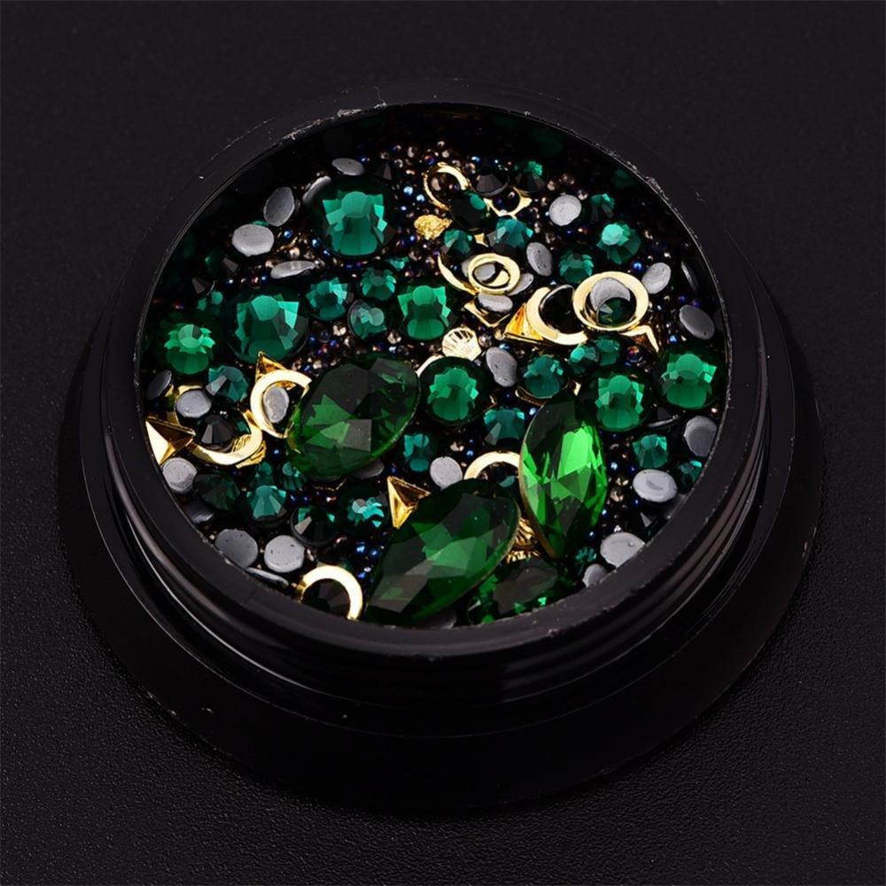 Yotown Pegatina de Uñas, 12 UNIDS Nail Art Decoration Bead + ...