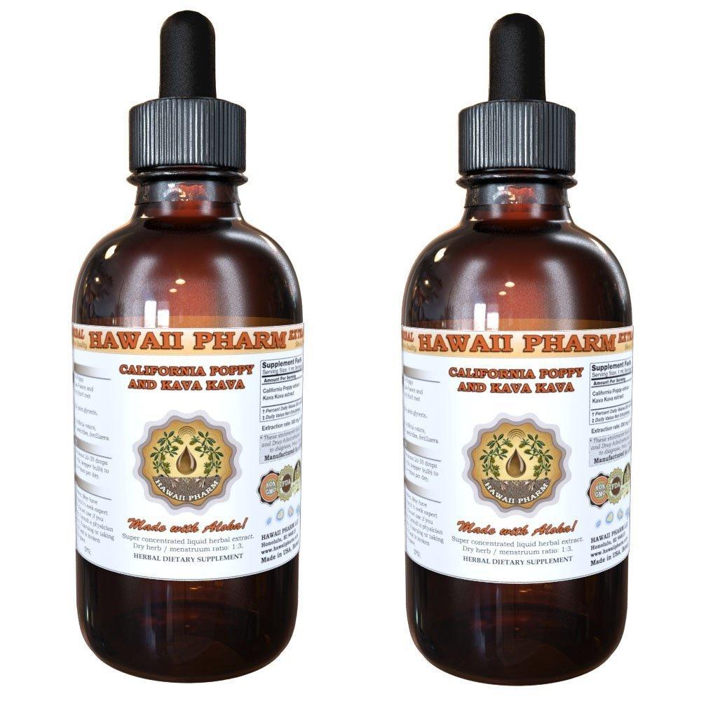 California Poppy (Eschscholzia Californica) and Kava Kava (Piper Methysticum) Liquid Extract 2x4 oz
