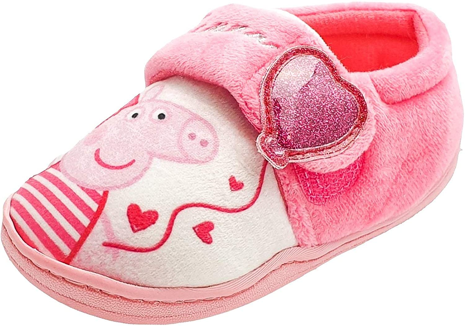 Peppa Pig Girls Slippers in Pink and White