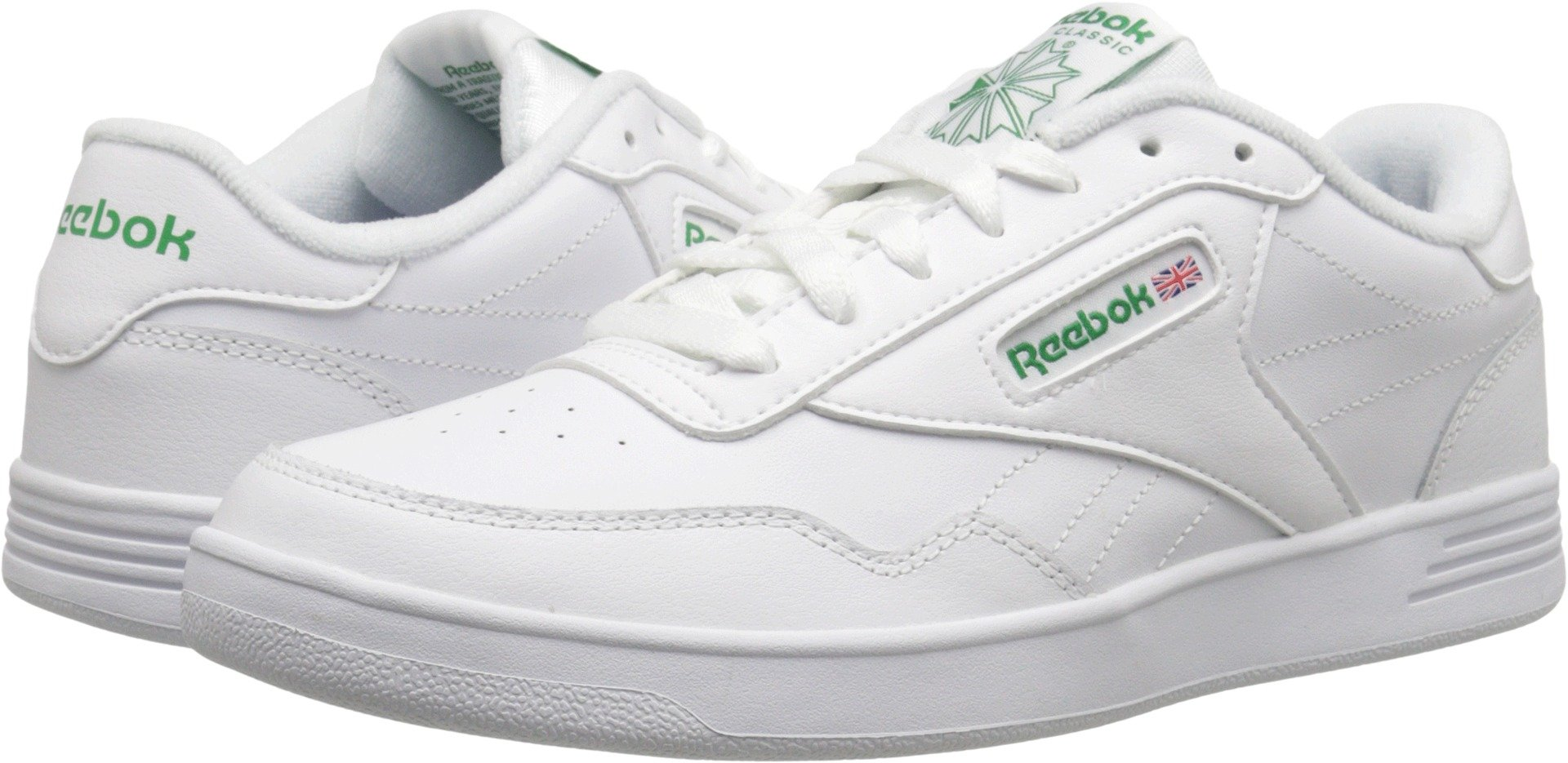 Reebok Men's Club MEMT Sneaker White/Glen Green 14 4E US
