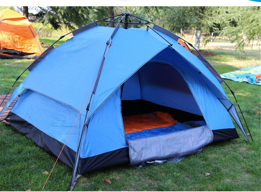 HONEYY Campo in Tenda Outdoor Full-Build Automatico a Mani libere ombrellone Tenda Doppio Falso Account Doppia tettoie 210  150  120cm B