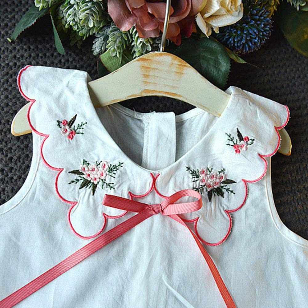 Pure Color Pants Children Clothing Set Baby Clothing Kids Summer Clothes Girls Flower Printing Vest