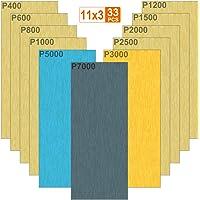 Akuoly Nat en droog schuurpapier 33 stks Schuurpapier Vellen 7000 5000 3000 2500 2000 1500 1200 1000 800 600 400 Grit…