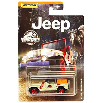 Matchbox '93 Jeep Wrangler #10 Jurassic World Diecast 1:64 Scale: Toys & Games