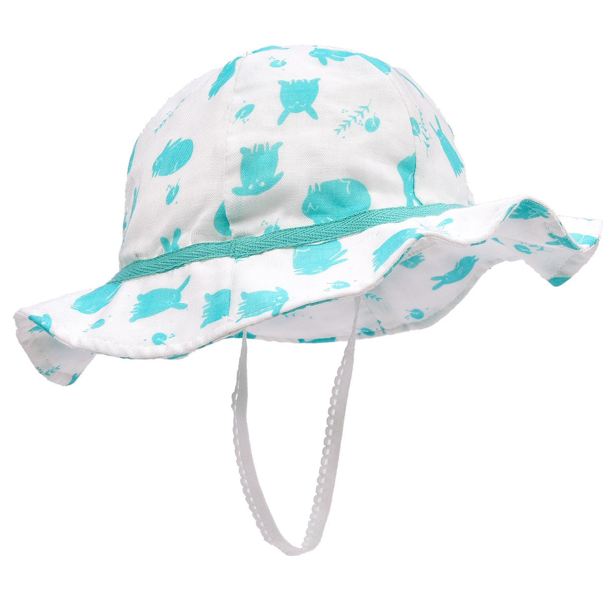 Baby Girls Summer Sun Hat Toddler Kids Breathable Foldable Cotton Spring Hat Sun Protection Hat