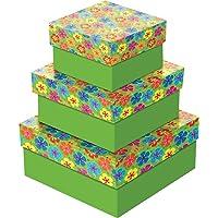 Caixa para Presente com Tampa Pequena, Cores Sortidas, 16x16x7 cm, Pacote com 20 Caixas, Cristina, Modelo 57104