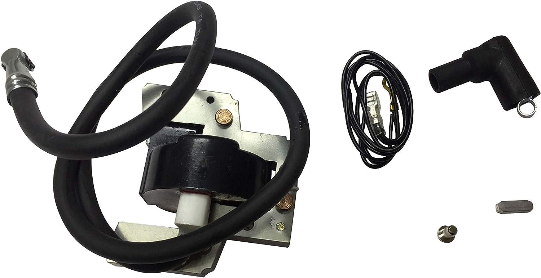 ENGINERUN 398811 Ignition Coil Module Magneto for Briggs & Stratton 7HP-16HP Engines 395326, 395492, 398265 John Deere PT15339 Stens 440-417 398811