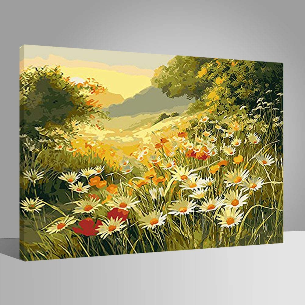 19.69x15.75 Boats Lake Mountains DIY Painting By Numbers PBN Wall Art Picture Paint By Numbers Unque Gift For Home Decor