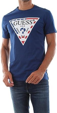 Guess M93I21 J1300 Camisetas Y Camisa DE Tirantes Hombre Blue S: Amazon.es: Ropa y accesorios