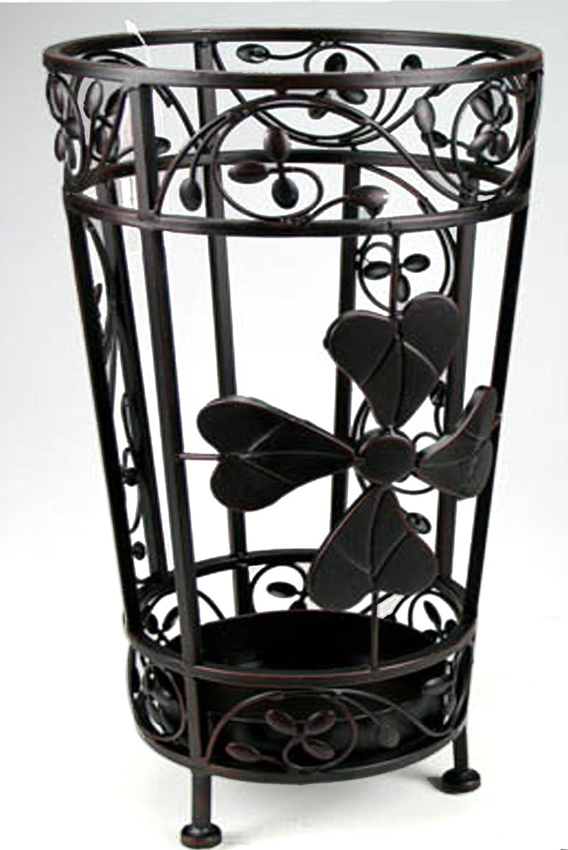 Idea casa: Portaombrelli in ferro lavorato con vaschetta scolapioggia Paolo Rossi