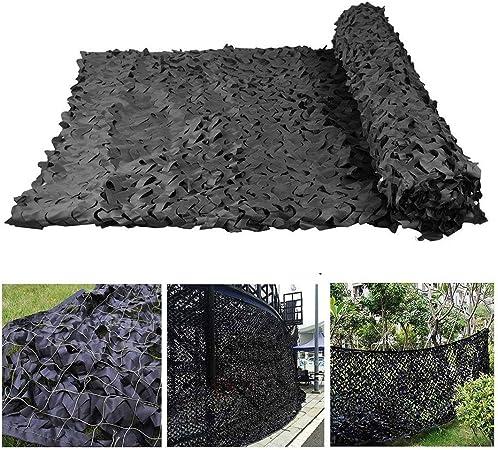 Malla de Camuflaje Negra Sombrilla Protección Solar Red Toldos Malla Solar Lona Camuflaje 3x5m 2x3m for Jardín Sombra Balcón Terraza Protección Privacidad Cubierta Planta Automóvil, Varios Tamaños: Amazon.es: Hogar
