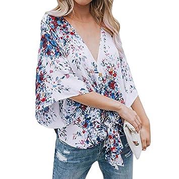 Mujer Blusa casual manga larga moda verano y otoño streetwear,Sonnena Camisa de manga corta