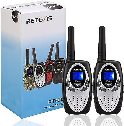 Retevis Rt628 Walkie Talkies Für Kinder Pmr446 8 Kanäle Vox Lcd Display Funkgerät Kinder Spy Gear Spielzeug Geschenk Für Kinder 1 Paar Silbrig Audio Hifi