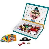 Janod - J02716 - Magnéti'book Crazy Faces garçon, 70 magnets