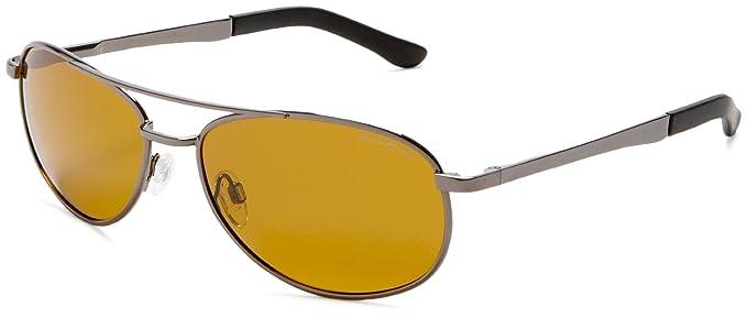 dda38442c7 Eagle Eyes Aviator Polarized Sunglasses - Aviator Glasses with Brow Bar