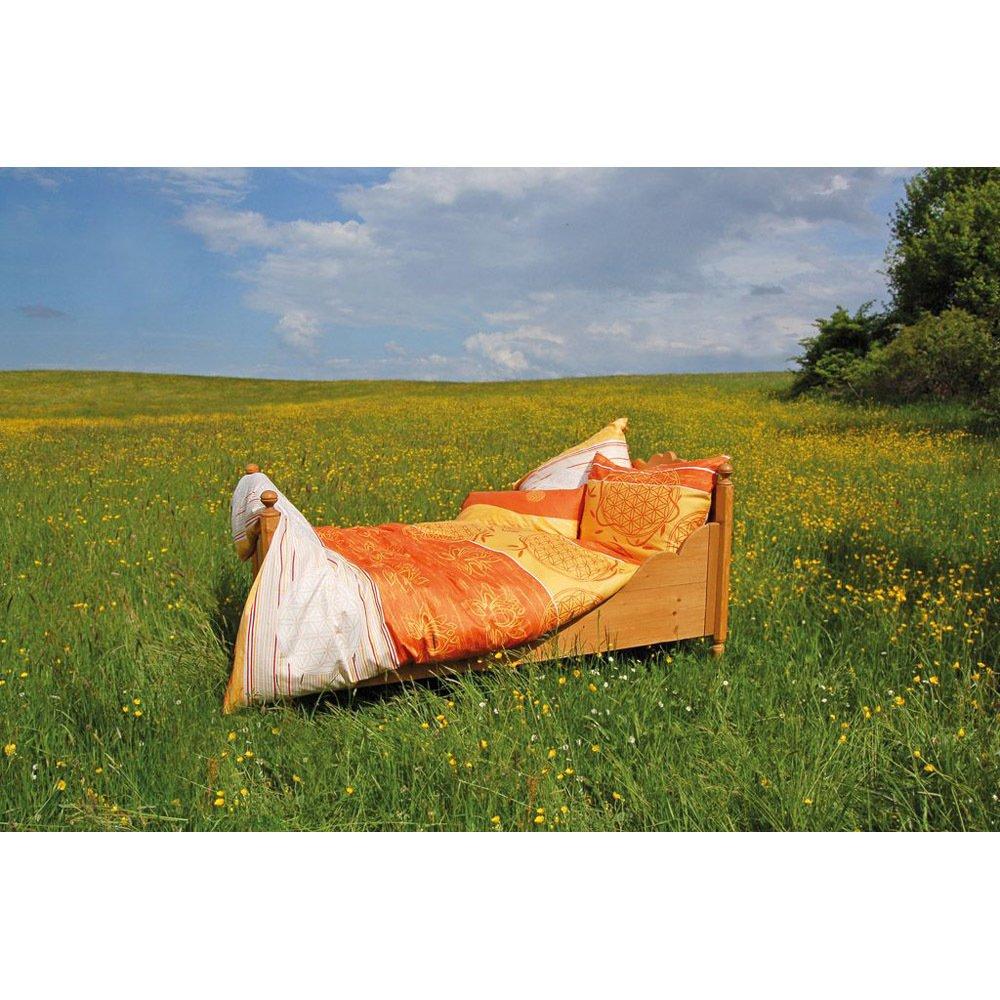 BERK BALANCE Bettbezug Blume des Lebens mangogelb 135 200 cm inkl. Kissen 80 80 cm