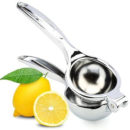 Hihoddy Limón Exprimidor Manual Juego de Limón Exprimidores Manuales de Acero Inoxidable Exprimidor Manual Prensa de