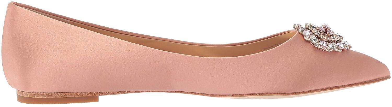 Badgley Mischka Women's Davis Pointed Toe Flat B072R58RGX 10 B(M) US|Dark Pink