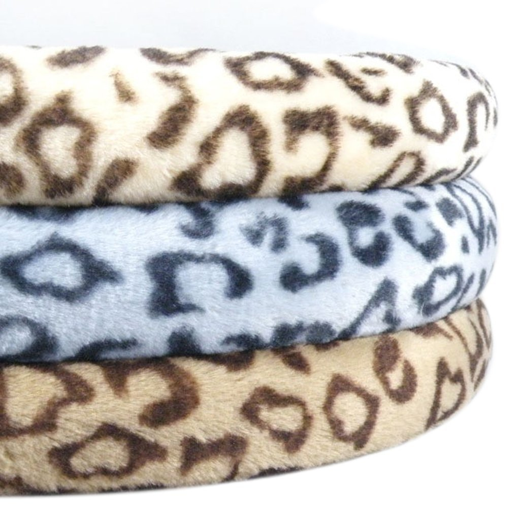 Trucker Steering Wheel Cover Protector Universal Plush FakeFace Leopard Print Design