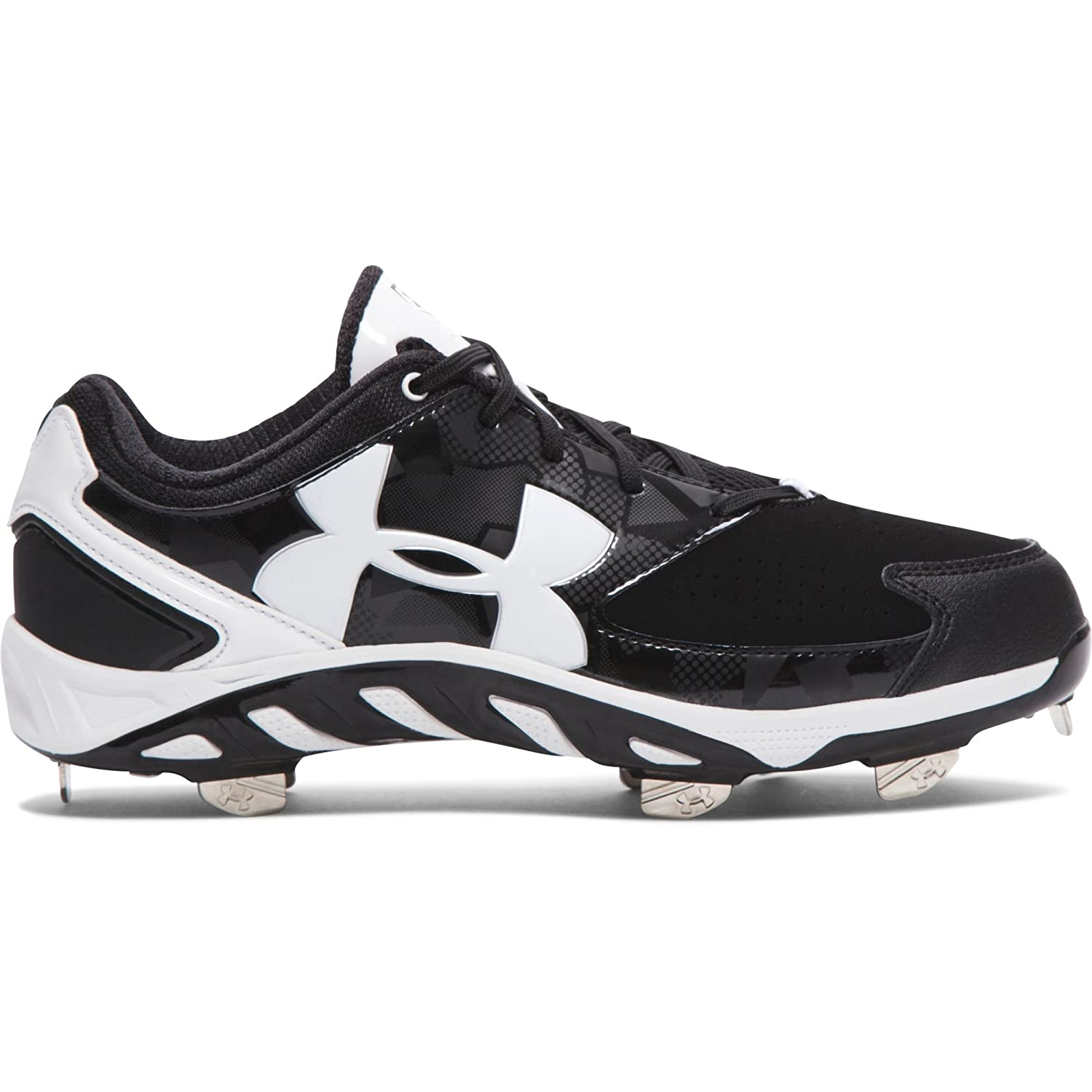 Under Armour Women's Spine Glyde Softball Low Metal Cleats 1264179-011