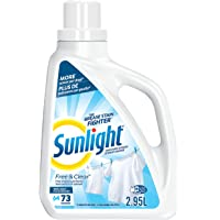 Sunlight Sensitive Skin Liquid Laundry Detergent, Clear and Fragrance Free, 64 Wash Loads, 2.95 Litres