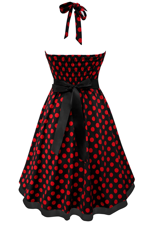655748c81c69b2 BlackButterfly 'Rhya' Vintage Polka-Dots Kleid im 50er-Jahre-Stil:  Amazon.de: Bekleidung