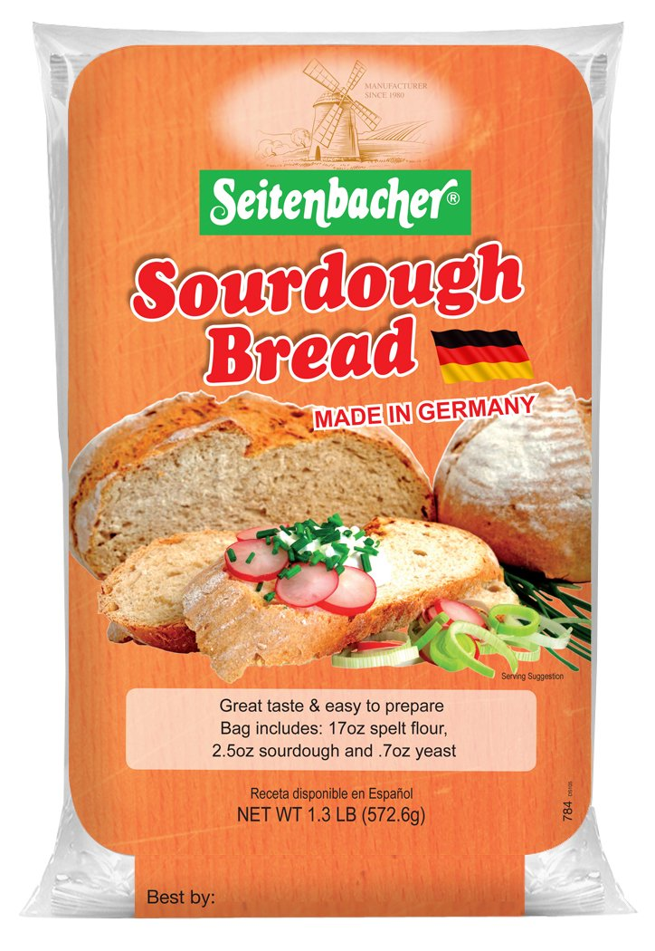 Seitenbacher German Sourdough Bread Mix, 1.3 lbs, 6 Count