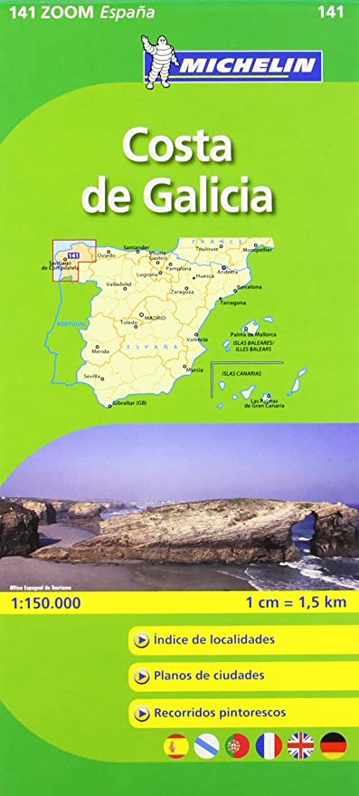Mapa Zoom Costa de Galicia (Mapas Zoom Michelin): Vv.Aa, Vv.Aa: Amazon.es: Belleza