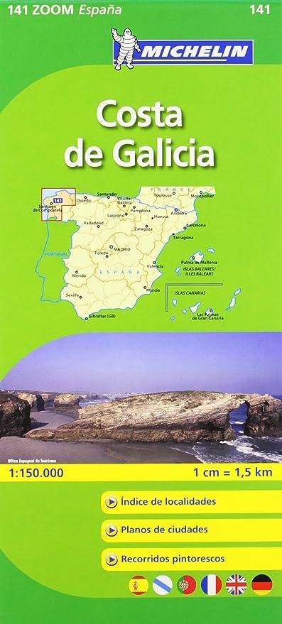 Costa De Galicia Mapa.Mapa Zoom Costa De Galicia Mapas Zoom Michelin Vv Aa