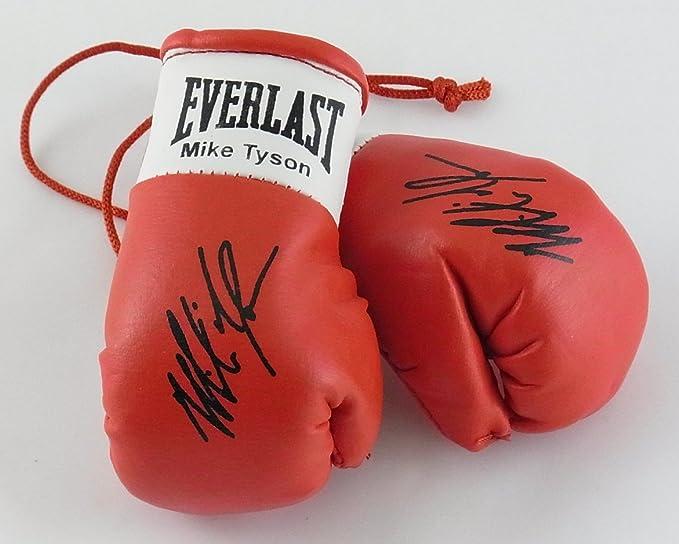 Guantes de boxeo autografiados Mini Mike Tyson (de coleccionista)