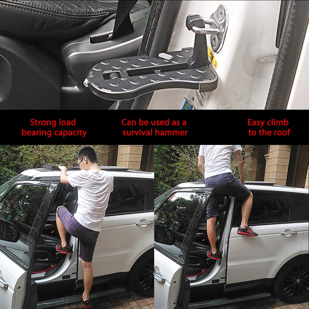Fahou Multifunction Foldable Car Door Hook Pedals Vehicle Rooftop Roof Rack Assistance Door Step For Car SUV