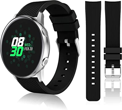 HSWAI 20mm Compatible Bands Replacement for Samsung Galaxy Watch Active 40mm / Active 2/ Galaxy Watch 42mm / Gear Sport / Gear S2 Classic Watch