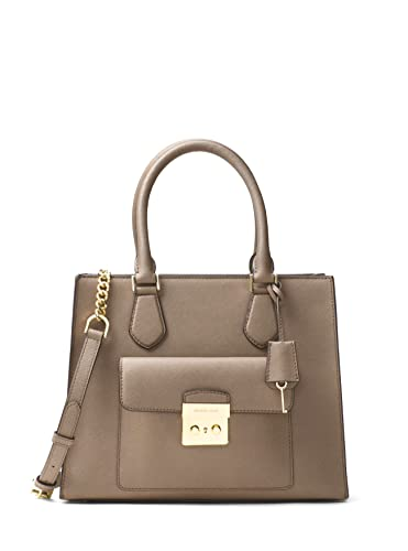 MICHAEL Michael Kors Bridgette Medium Saffiano Leather Tote - Dark Dune